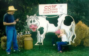 Dallas Carnival Game Rentals: Cow Milking Contest